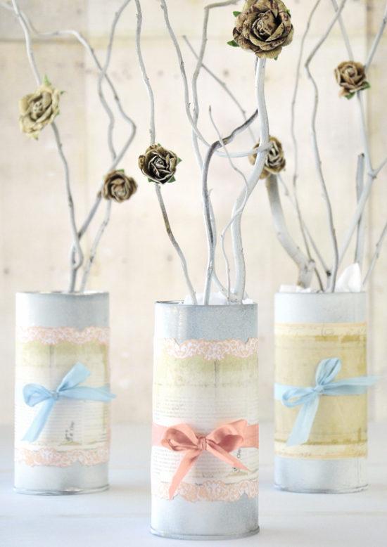 182 centros de mesa navide os con frascos latas pi as velas botellas centros de mesa - Centros navidenos originales ...