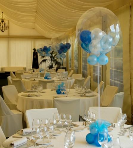 Centros de mesa con golosinas y globos para fiestas for Mesa de centro grande