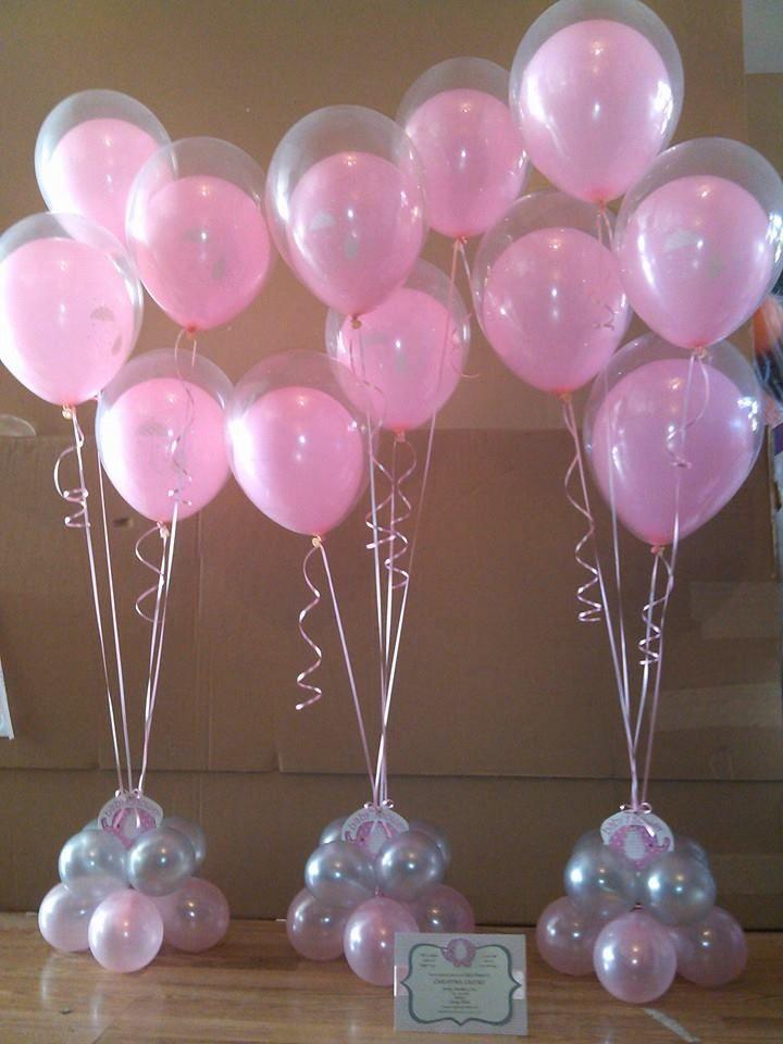 Centros de mesa con golosinas y globos para fiestas - Adornos para mesas de centro ...