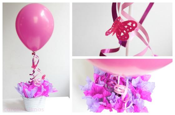 Ideal Para Un Cumpleaños De Una Niña, Por Sus Colores Rosas, Lilas Y  Violetas