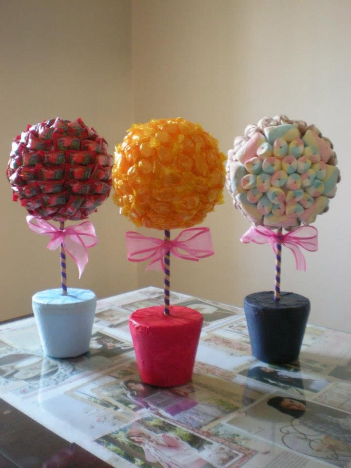 89 centros de mesa para cumplea os y fiestas infantiles - Como hacer centros de mesa con dulces para bautizo ...