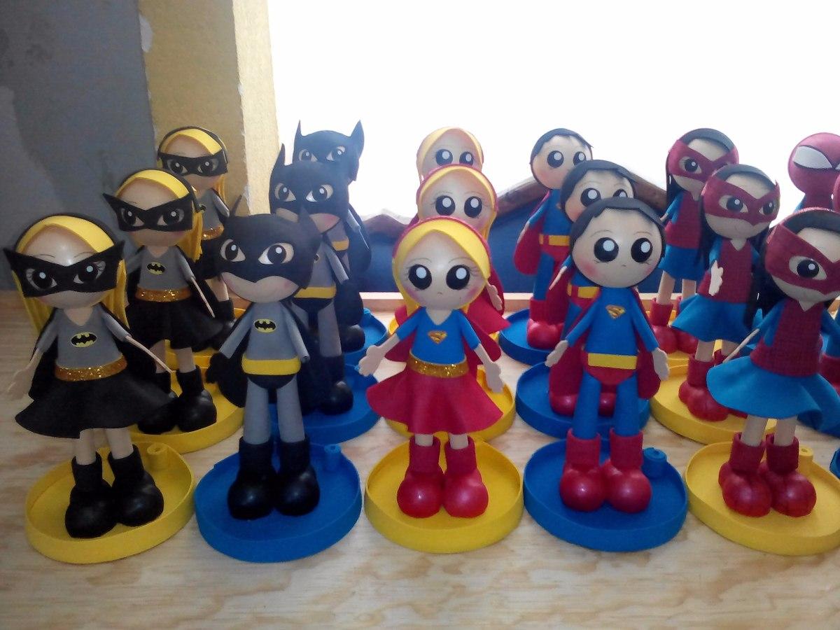 Arreglos y centros de mesa infantiles de superheroes for Mesas fiestas infantiles
