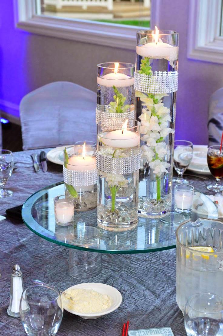 Centros de mesa para boda 2017 sencillos y elegantes for Bases para mesas de centro