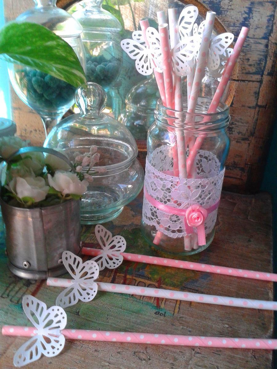 Centros de mesa infantiles con frascos y botellas de for Como decorar un cristal de mesa