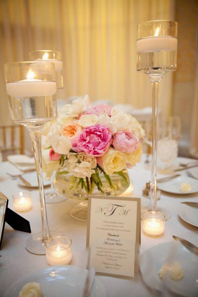 Centros de mesa para boda 135 fotos con dise os increibles for Mesa cristal y dorado
