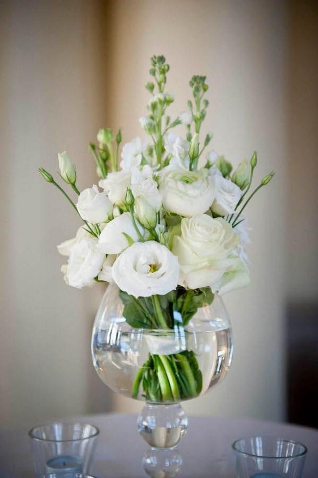 Centros de mesa para boda 135 fotos con dise os increibles - Copas decoradas con velas ...
