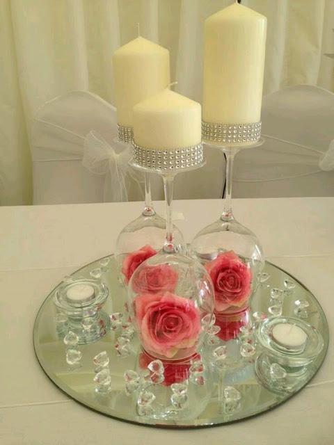 Centros de mesa para boda 135 fotos con dise os increibles for Mesas de centro en vidrio