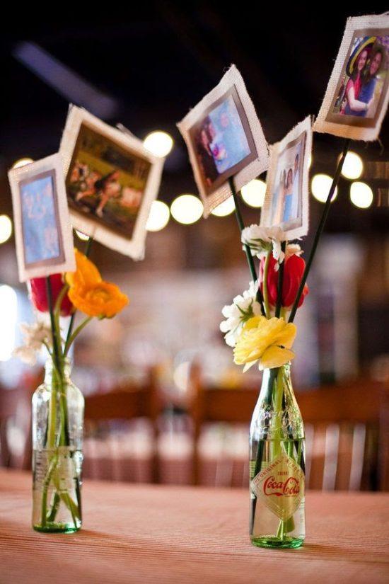 Centros de mesa para boda 135 fotos con dise os increibles for Mesas de boda originales