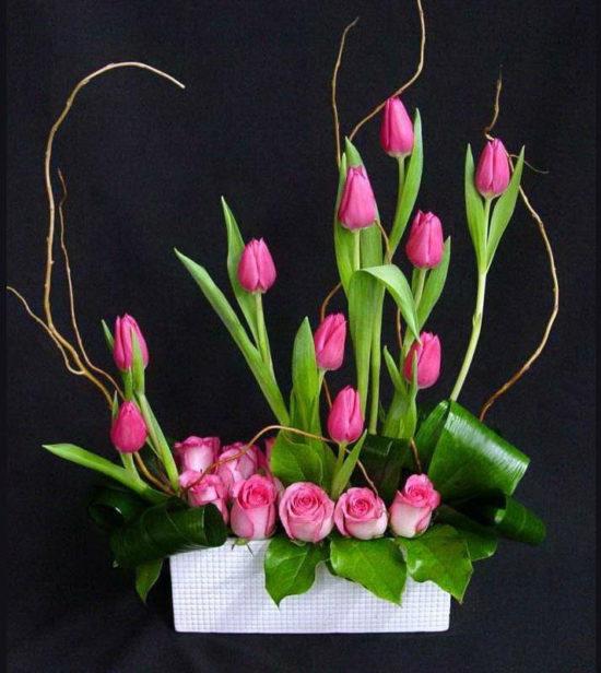 Centros Y Arreglos De Mesa Florales 100 Fotos Con Ideas Geniales - Centros-florales-modernos