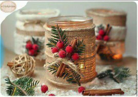 182 centros de mesa navide os con frascos latas pi as - Como hacer un centro de mesa navideno ...