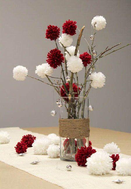 182 centros de mesa navide os con frascos latas pi as for Centros de mesa navidenos elegantes