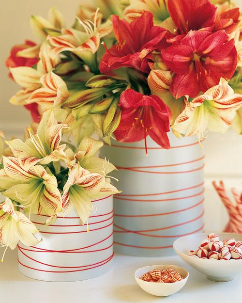 182 centros de mesa navide os con frascos latas pi as velas botellas - Centros navidenos originales ...
