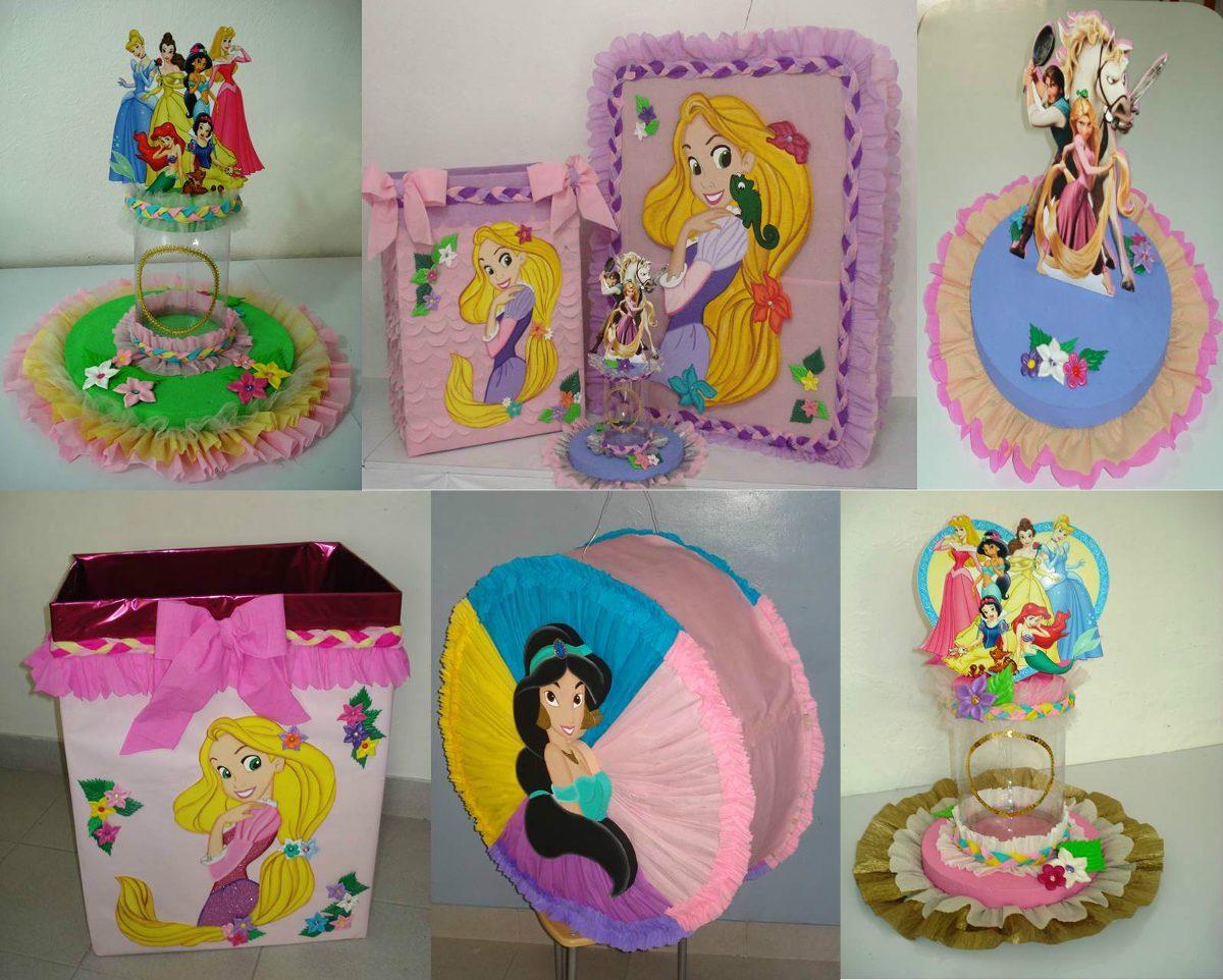 Centros de mesa con los personajes de disney ideas geniales for Decoracion mesas infantiles