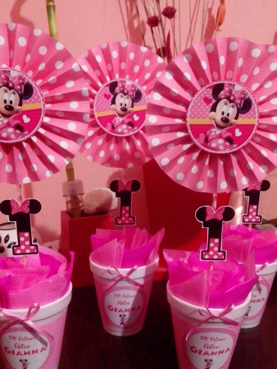 Centros de mesa con los personajes de disney ideas geniales - Decoracion fiesta rosa ...