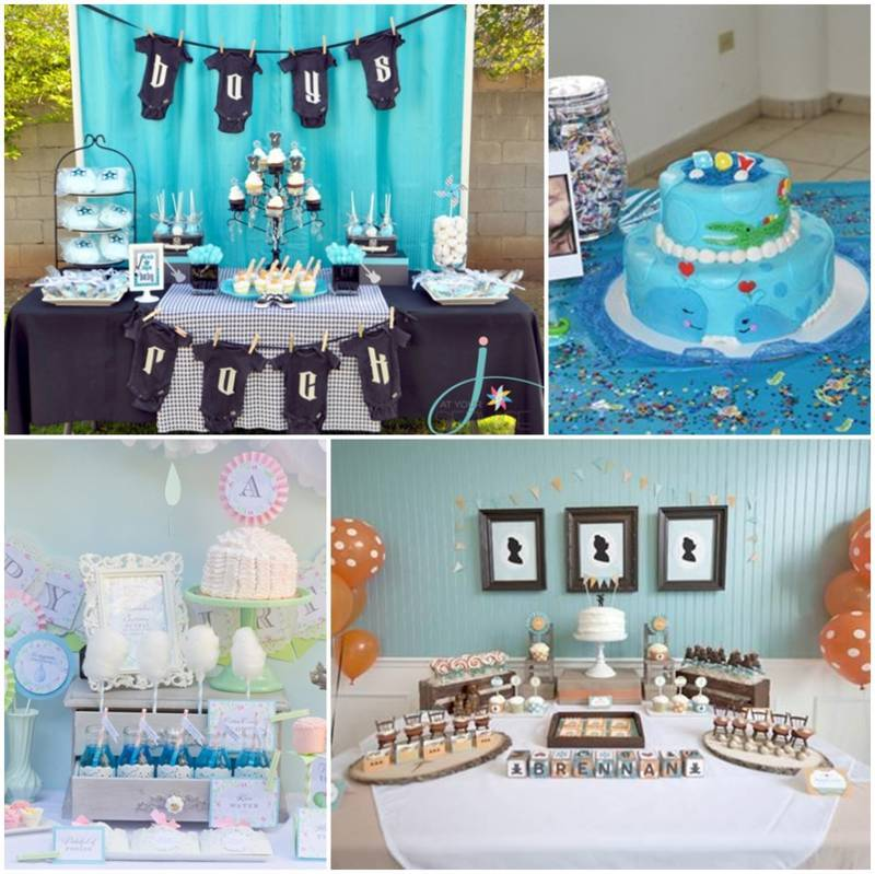 Adornos De Mesa Para Baby Shower De Nio Image Cabinets And Shower