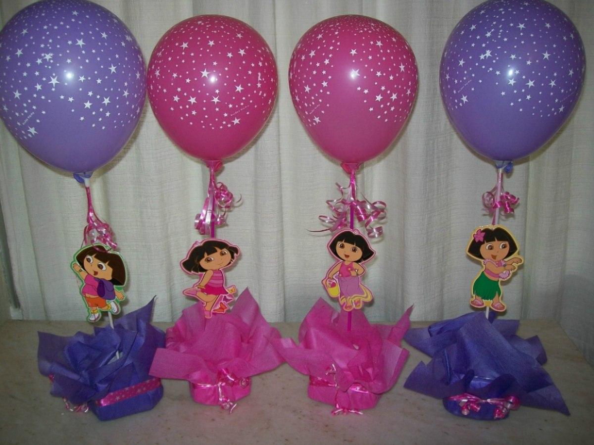 89 centros de mesa para cumplea os y fiestas infantiles - Centros de mesa con globos ...