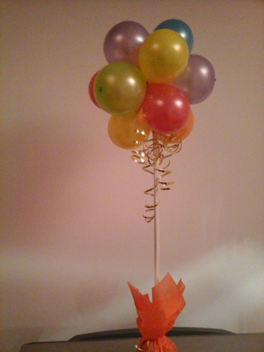 Centros de mesa con golosinas y globos para fiestas infantiles - Centros de mesa con globos ...