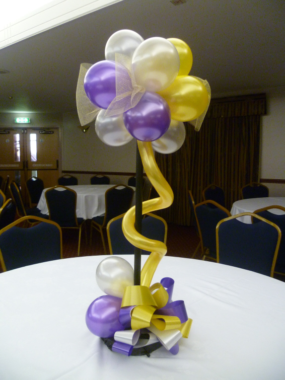 Centros de mesa con golosinas y globos para fiestas infantiles - Como hacer mesas ...