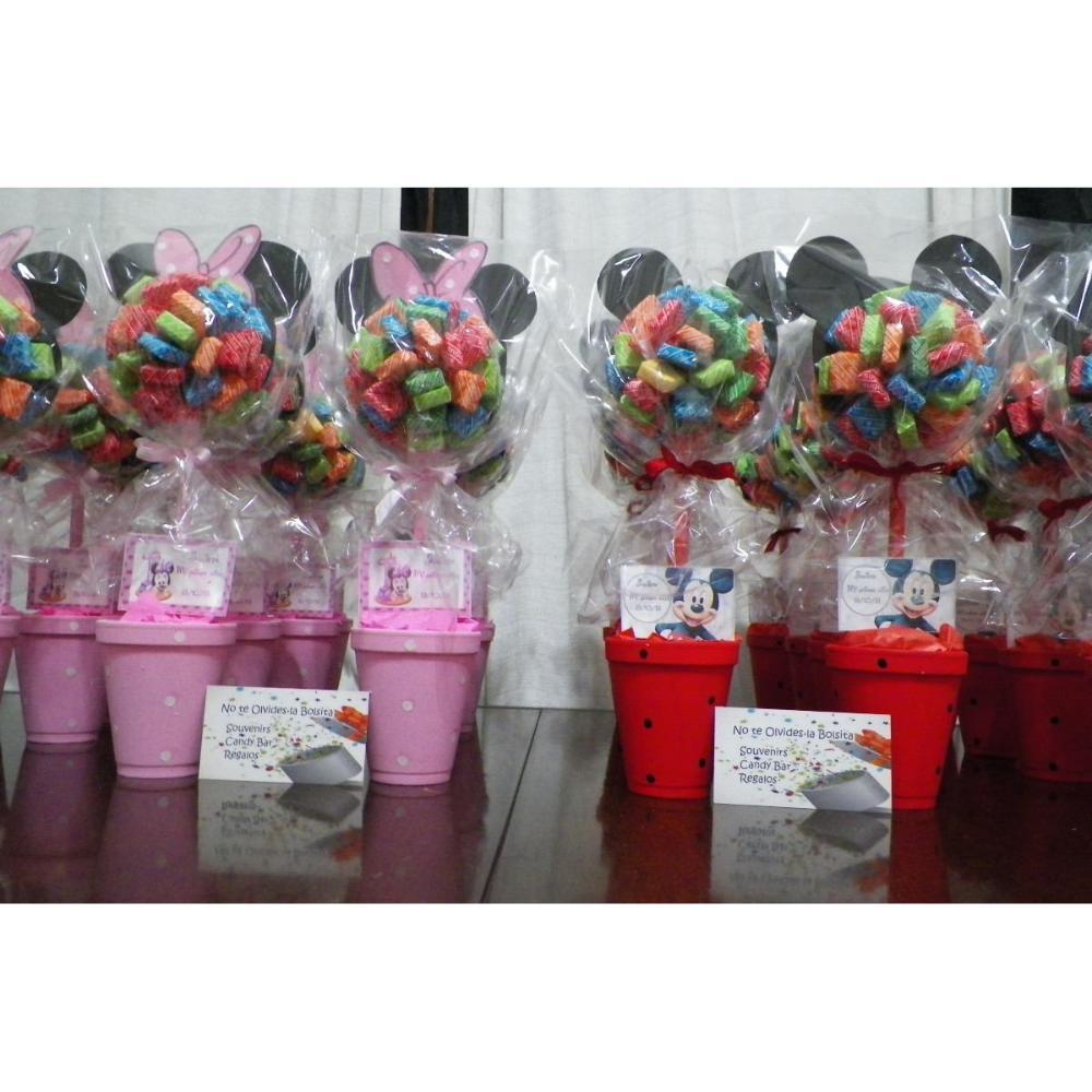Centros de mesa con golosinas y globos para fiestas - Mesas para ninas ...