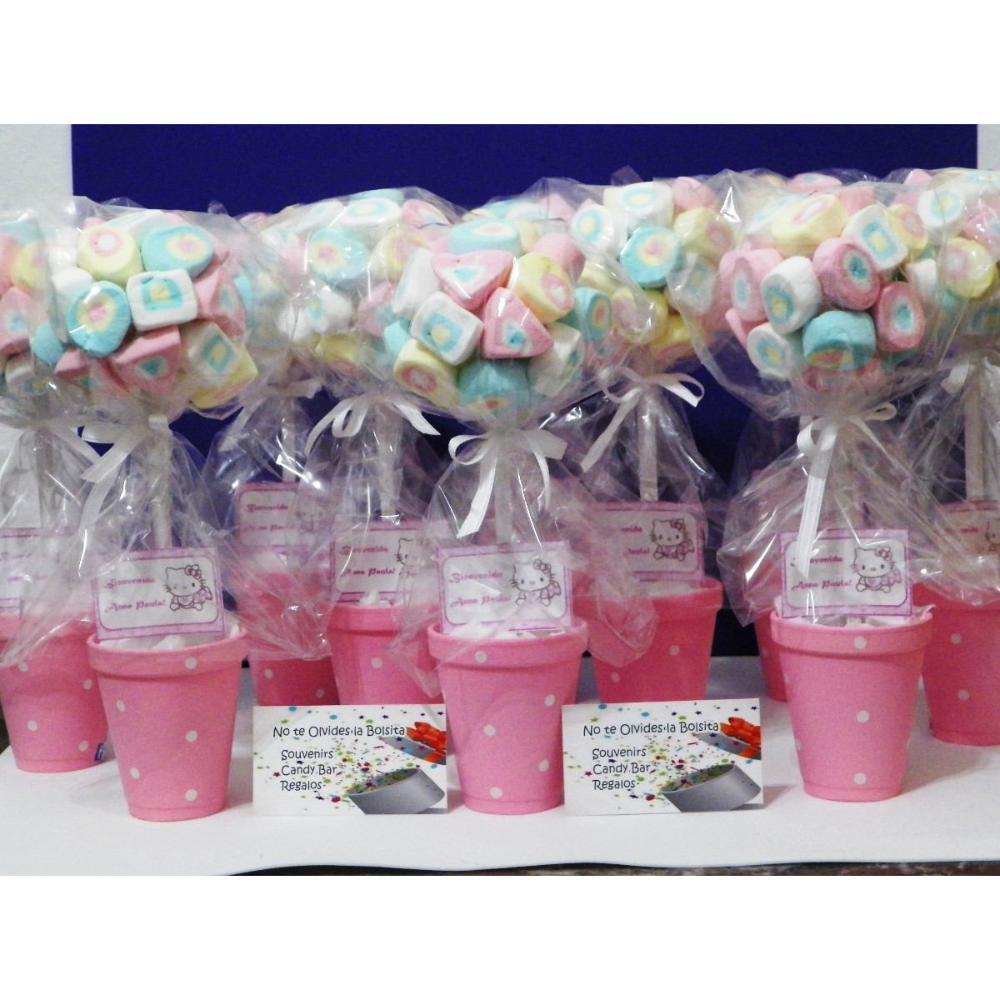 Centros de mesa con golosinas y globos para fiestas infantiles for Mesas fiestas infantiles