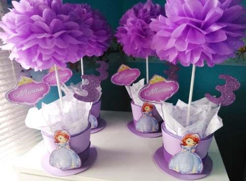 Los mejores centros de mesa de princesas para fiestas for Mesas infantiles precios