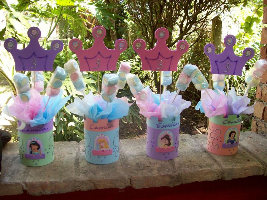 Los mejores centros de mesa de princesas para fiestas - Fiestas infantiles princesas disney ...