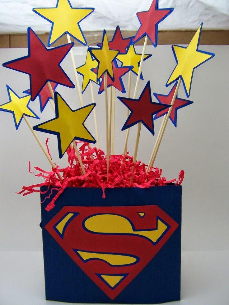 Arreglos y centros de mesa infantiles de superheroes for Hacer mesa de centro facil
