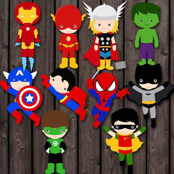 Arreglos Y Centros De Mesa Infantiles De Superheroes