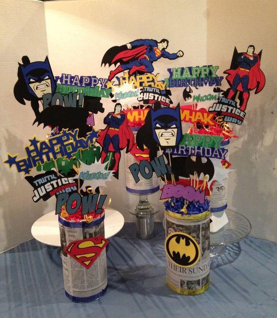 Letrero feliz cumpleanos super heroes