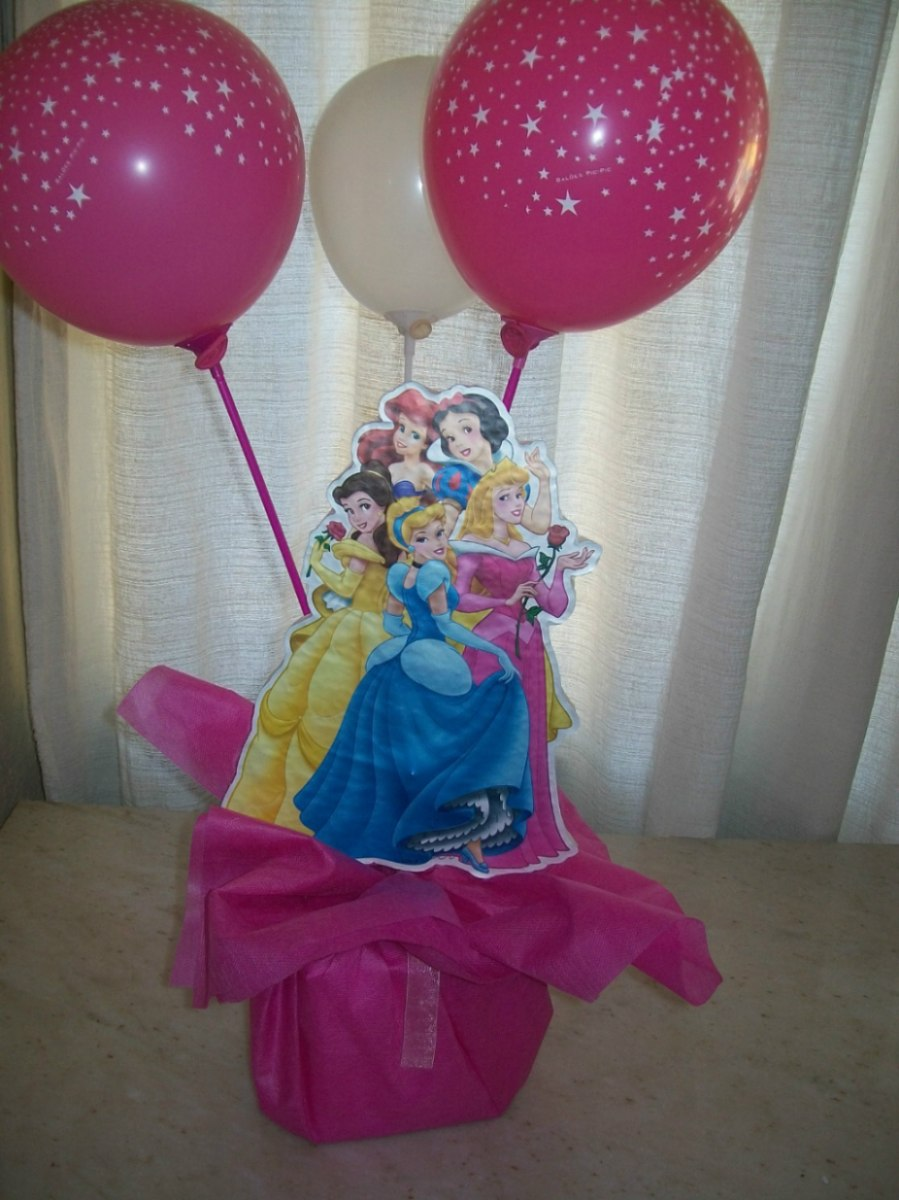 Los mejores centros de mesa de princesas para fiestas for Mesas fiestas infantiles