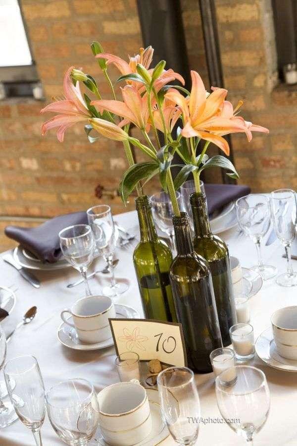 Botellas De Vino Decoradas Para Primera Comunion.Centro De Mesa Comunion Con Botellas Unpastiche Org