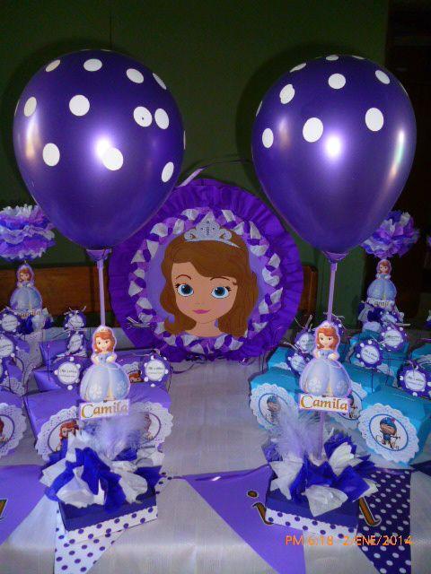 5379ace09 Los Mejores Centros de Mesa de PRINCESAS para Fiestas Infantiles