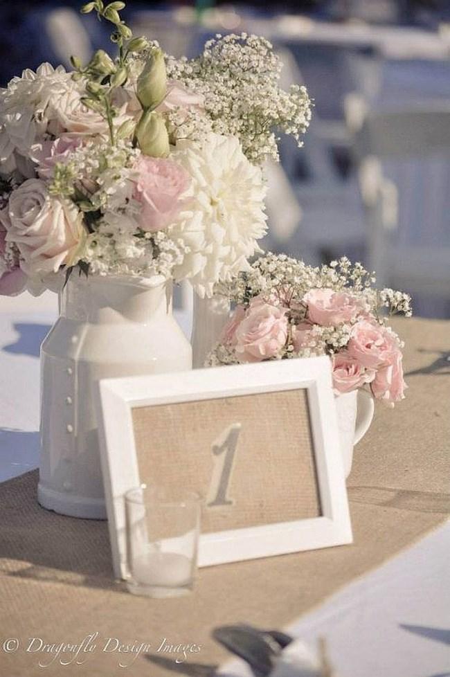 Centros de mesa para boda 2018 sencillos elegantes y for Mesas de centro estilo nordico