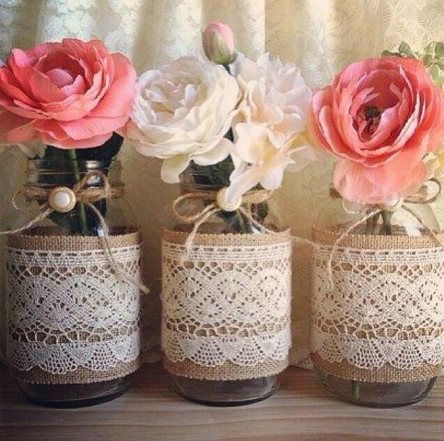 Centros de mesa para boda 2018 sencillos elegantes y - Como decorar un cristal de mesa ...