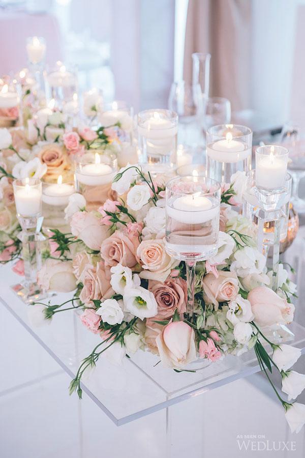 Centros de mesa para boda 2019 sencillos elegantes y - Cristales para mesa ...