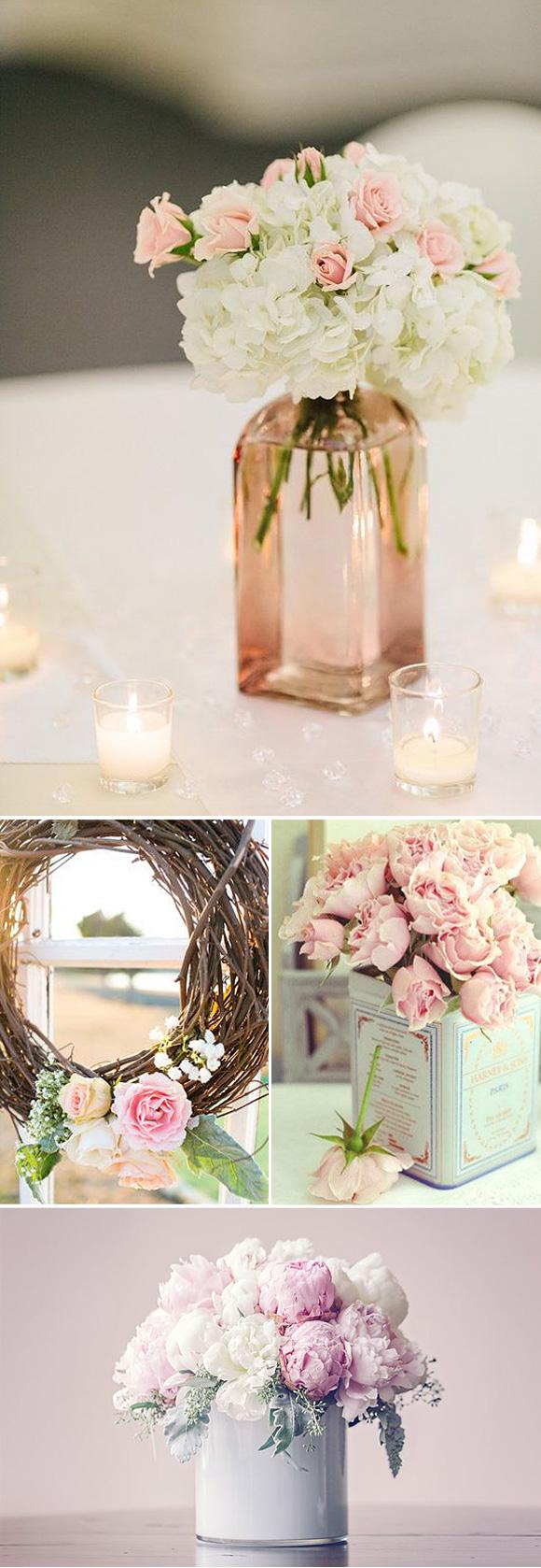 Centros de mesa para boda 2019 sencillos elegantes y - Centros de mesa bautizo economicos ...