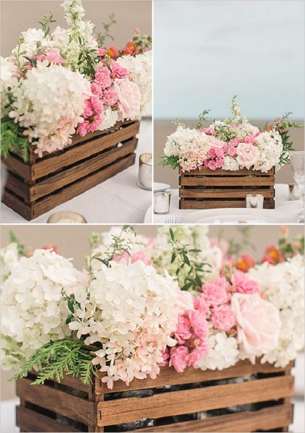 Arreglos florales vintage para bodas y 15 a os - Mesas de centro que se elevan ...