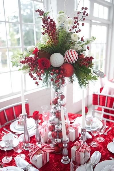 Centros De Mesa Para Navidad Y Ano Nuevo 2019 - Mesas-de-navidad-decoradas