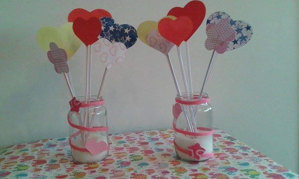 Centros de mesa infantiles con frascos y botellas de vidrio - Vasos para cumpleanos infantiles ...