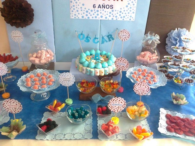 Centros de mesa con dulces para fiestas infantiles for Decoracion cumples infantiles