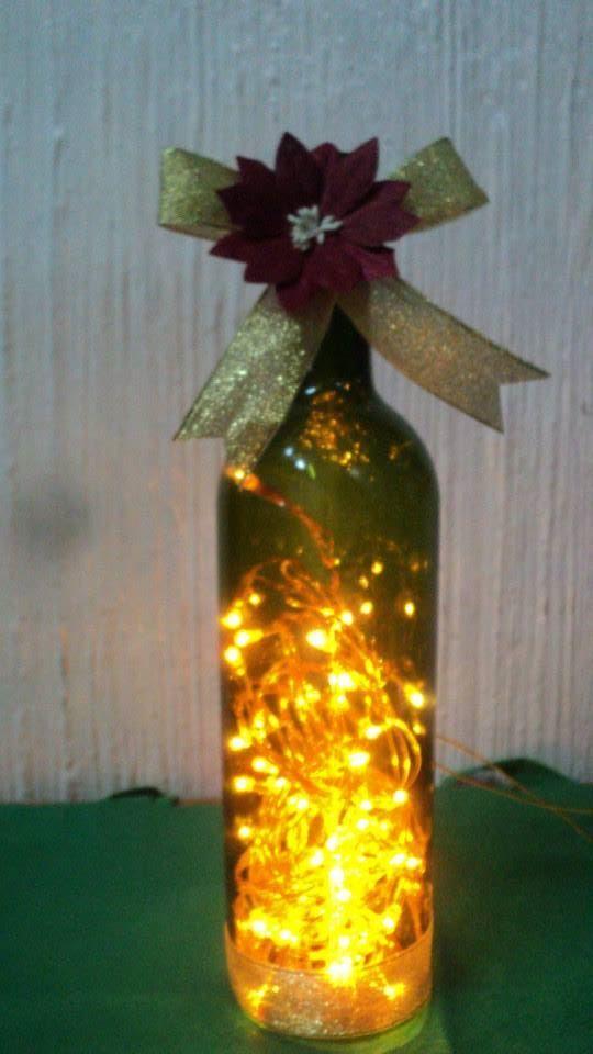 Centros de mesa infantiles con frascos y botellas de vidrio - Mesas de navidad decoradas sencillas ...
