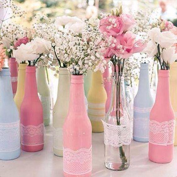 Como Decorar Botellas De Vidrio Con Velas