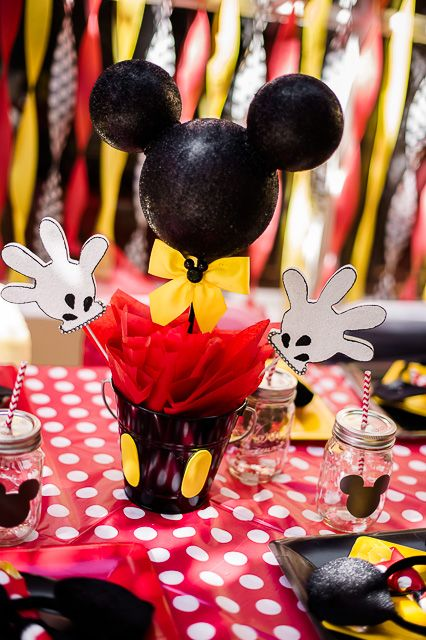 Centros de mesa de mickey y minnie mousse for Mesa de cumpleanos de mickey