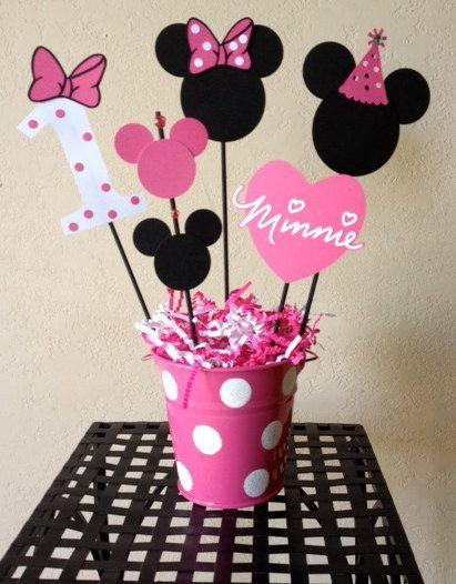 96fad525f Arreglos de Baby Shower con Minnie y Mickey