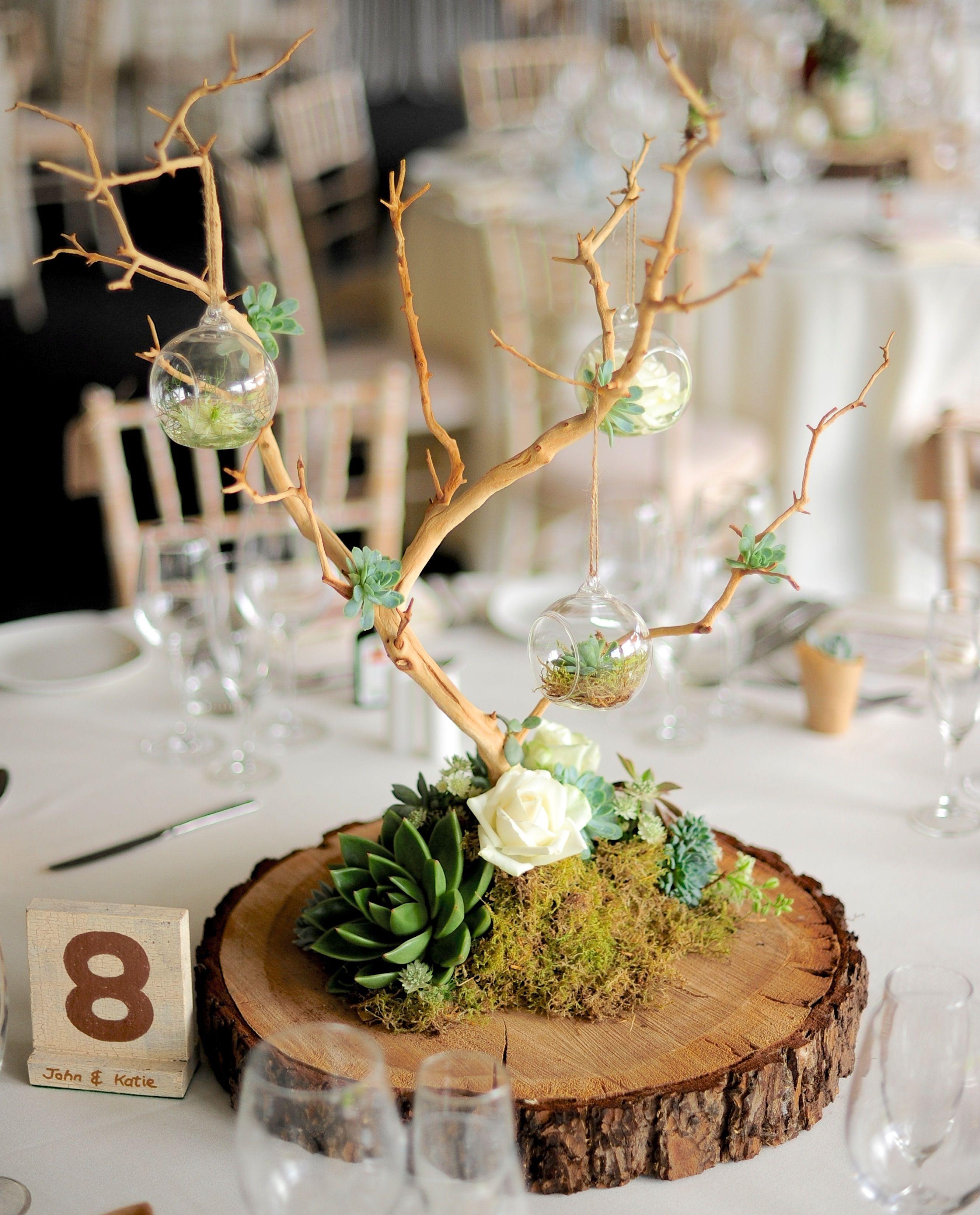 Matrimonio Civil Rustico : Centros de mesa rústicos y originales con troncos maderas