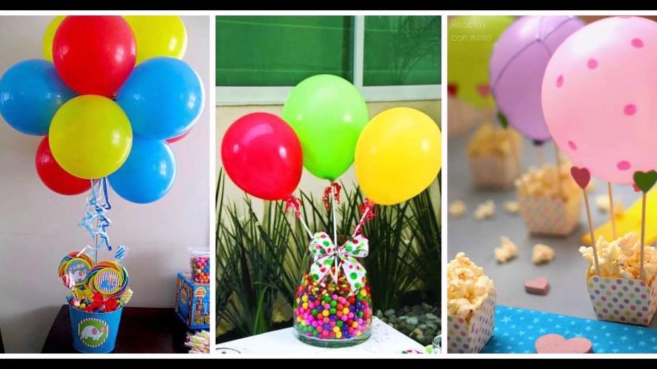 Centros de mesa con globos muy originales y econ micos - Bombas para decorar ...