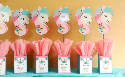 Decoracion Baby Shower Nina De Princesa.Centros De Mesa De Unicornio Ideas Increibles Y Originales
