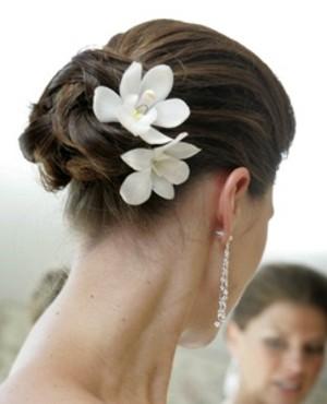 Peinados de novia con orquideas