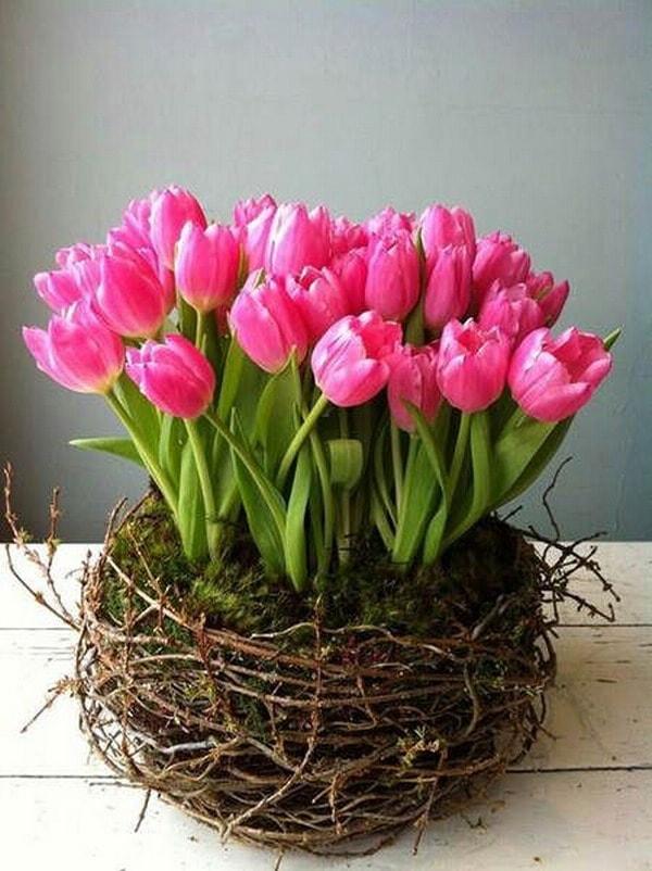 Centros De Mesa Y Arreglos Florales Con Tulipanes