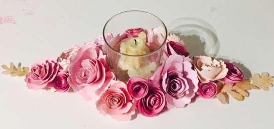 Bodas Con Flores De Papel Centros De Mesa Y Arreglos